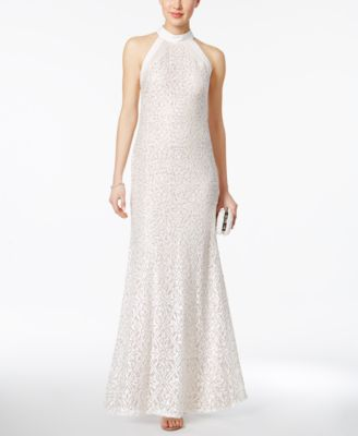 nightway petite sequined lace gown