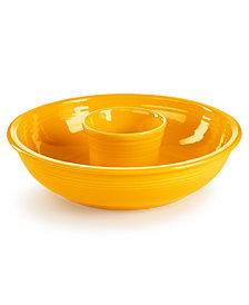 Fiesta Daffodil Chip & Dip Set