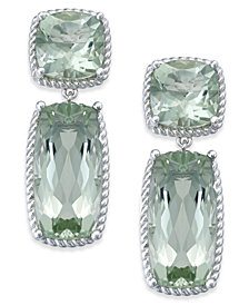 Green Amethyst Drop Earrings (14 ct. t.w.) in Sterling Silver