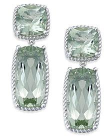 Green Amethyst Drop Earrings (14 ct. t.w.) in Sterling Silver