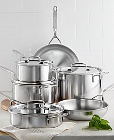 Demeyere 5-Plus 10-Pc. Stainless Steel Cookware Set