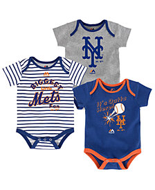 Majestic New York Mets Homerun 3-Piece Set, Baby Boys (0-9 months)