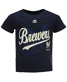 Majestic Milwaukee Brewers The Game Cotton T-Shirt, Toddler Boys