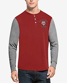 '47 Brand Men's Minnesota Twins Downfield Henley Long-Sleeve T-Shirt