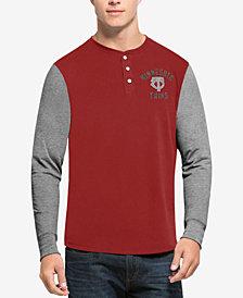 '47 Brand Men's Minnesota Twins Downfield Henley Long-Sleeve T-Shirt