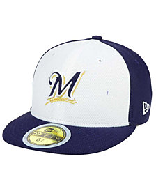 New Era Kids' Milwaukee Brewers Batting Practice Diamond Era 59FIFTY Cap