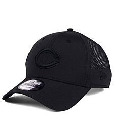 New Era Cincinnati Reds Black/Black Perf Tech 9FORTY Adjustable Cap