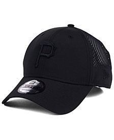 New Era Pittsburgh Pirates Black/Black Perf Tech 9FORTY Adjustable Cap