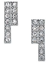 INC International Concepts Silver-Tone Crystal Drop Earrings, Created for Macy's