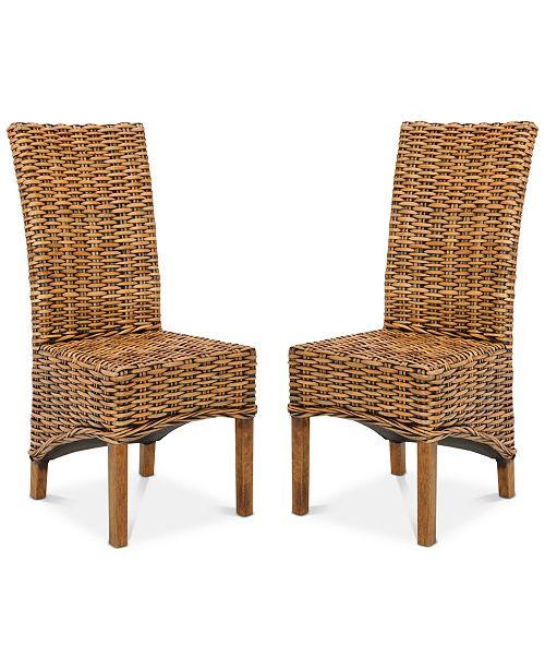 Pleasant Heydon Set Of 2 Wicker Dining Chairs Quick Ship Creativecarmelina Interior Chair Design Creativecarmelinacom