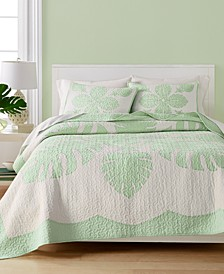 Maui Medallion Cotton Quilt and Sham Collection, Created for Macy's