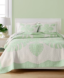Martha Stewart Collection Maui Medallion Cotton King Quilt, Created for Macy's