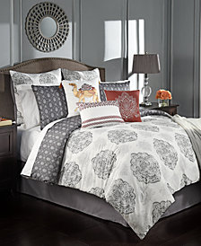 CLOSEOUT! Rohan Reversible 10-Pc. Queen Comforter Set
