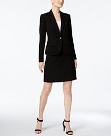 Anne Klein Executive Collection Single-Button A-Line Skirt Suit, Created for Macy's