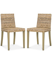 Larne Set of 2 Wicker Dining Chairs