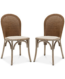 Jaynus Set of 2 Dining Chairs, Quick Ship