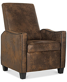 Corbie Faux Leather Recliner, Quick Ship