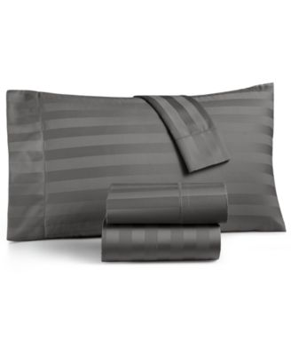 Stripe Extra Deep Pocket Queen 4-Pc Sheet Set, 550 Thread Count 100% Supima Cotton, Created for Macy's
