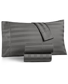 Charter Club Damask Stripe California King 4-Pc Sheet Set, 550 Thread Count 100% Supima Cotton, Created for Macy's