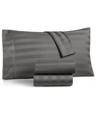 charter club damask stripe california king 4pc sheet set 550 thread count 100