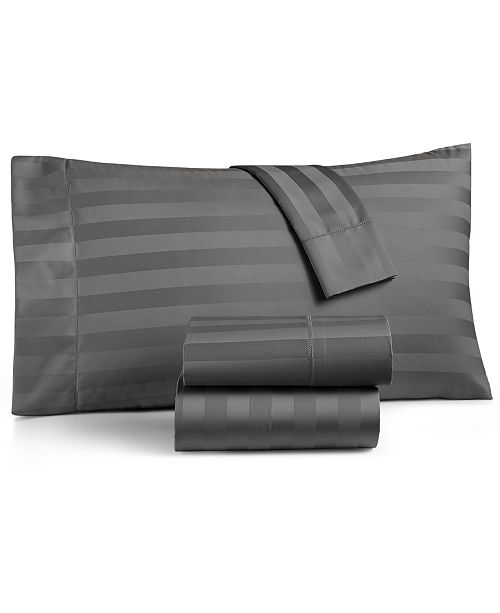 Charter Club Stripe King 4-Pc Sheet Set, 550 Thread Count 100% Supima Cotton, Created for Macy's