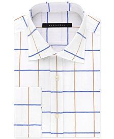 Sean John Men's Classic-Fit White Print French Cuff Dress Shirt