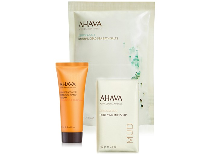 Receive a free 3-piece bonus gift with your $50 AHAVA purchase
