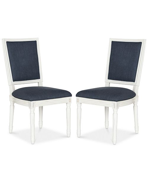 Safavieh Evina Set of 2 Dining Chairs, Quick Ship