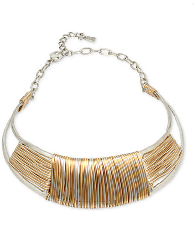 Robert Lee Morris Soho Two-Tone Wrapped Collar Necklace ...