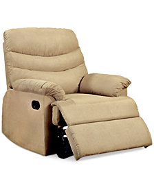 Jerrie Microfiber Recliner, Quick Ship
