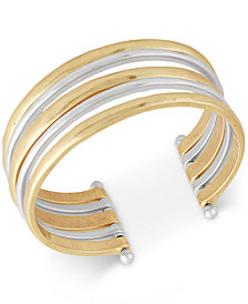 Lucky Brand Two-Tone Multi-Row Cuff Bracelet