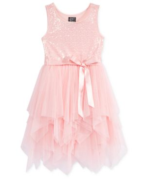 Pink & Violet Sequined Layered Mesh Dress, Toddler & Little Girls (2T-6X) 4584603