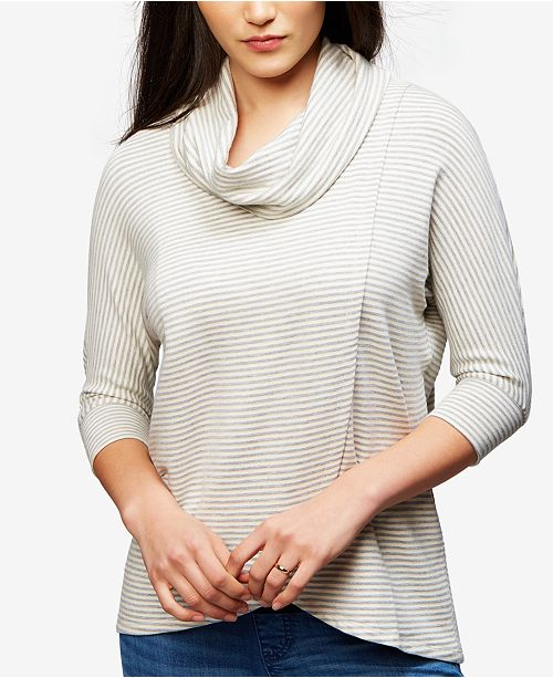 A Pea in the Pod Maternity Cowl-Neck Nursing Top