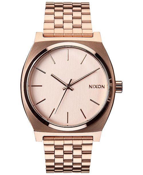 81ea0ef5c Nixon Time Teller Stainless Steel Bracelet Watch 37mm & Reviews ...