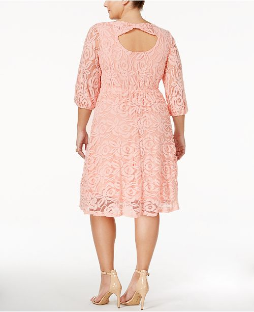 Ing Trendy Plus Size Lace A Line Dress Dresses Plus Sizes Macys