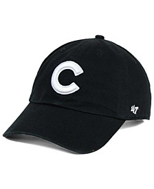 Chicago Cubs Black White Clean Up Cap