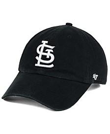 St. Louis Cardinals Black White Clean Up Cap