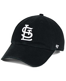 '47 Brand St. Louis Cardinals Black White Clean Up Cap