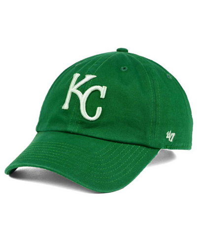 '47 Brand Kansas City Royals Kelly/White Clean Up Cap