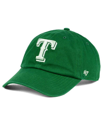 '47 Brand Texas Rangers Kelly/White Clean Up Cap