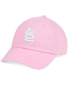 '47 Brand Women's St. Louis Cardinals Pink/White Clean Up Cap