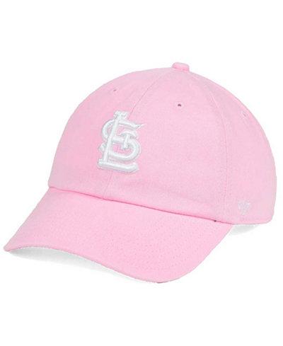 '47 Brand Women's St. Louis Cardinals Pink/White Clean Up Cap