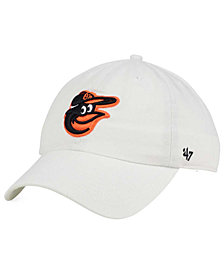 '47 Brand Baltimore Orioles White Clean Up Cap