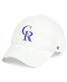 Colorado Rockies White Clean Up Cap