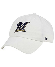 Milwaukee Brewers White Clean Up Cap