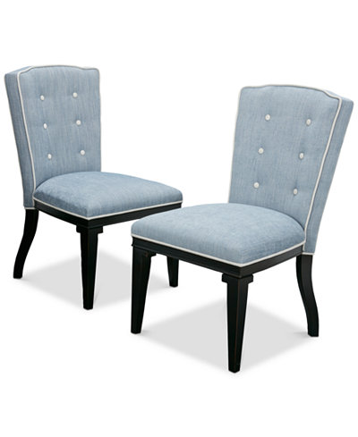 Twyla Set of 2 Side Chairs, Quick Ship