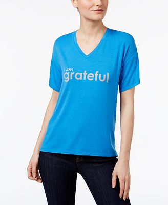 Peace Love World Grateful Graphic T Shirt
