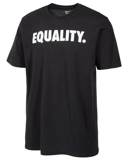 767e8f5f Nike Men's Dri-FIT Equality Print T-Shirt & Reviews - T-Shirts - Men ...