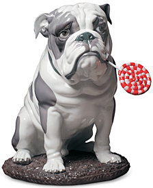Lladró Bulldog with Lollipop Figurine