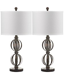 Set of 2 Calista Double Sphere Table Lamps